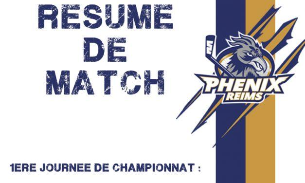 Résumé du match de la première journée : Meudon / Reims